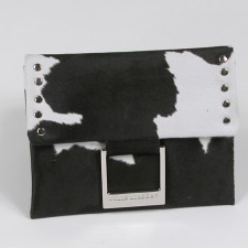 Calf Hair Casual Clutch